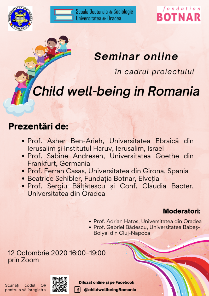 Afis Child well being in Romania 12 Octombrie